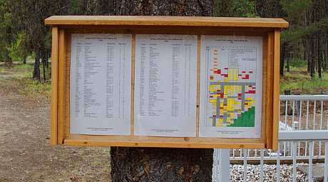 Cemetery Plot Map Sign